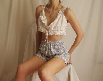 90s Forget Me Not Cotton Shorts S M