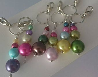 Handmade beaded stitch markers -
