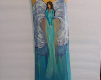 Angel wall art wood acrylic