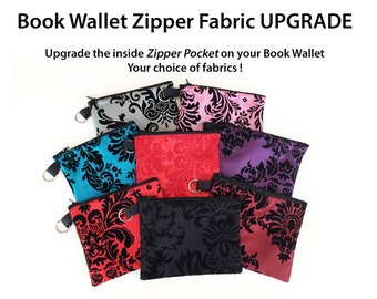 Book Wallet Upgrade Fabric for Zipper Pocket inside - Not for Individual Sale