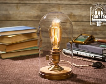 Free Shipping Wooden Edison Table Lamp Desk Lamp Bed