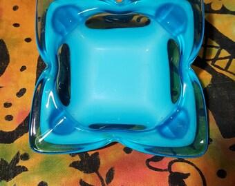 Vintage Sasaki blue ashtray