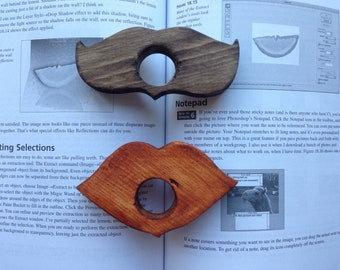 Wooden Mustache - Lip Book Page Holder - Book Accessories - Gift for her him