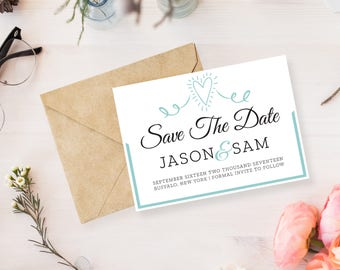 Customized Save The Date Invitation