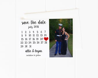 Save the Date Calendar, Photo Save the Date,