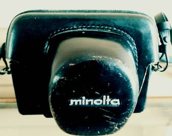 Vintage 70's Minolta Hi Matic 9 Camera with Case