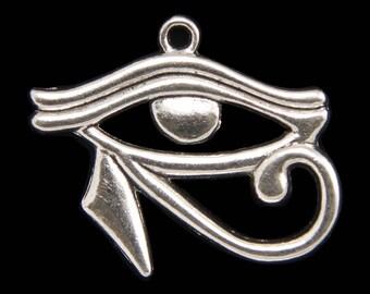 Eye of Horus Antique Silver Pendant Charm