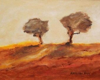 Modern Landscape Painting,  Trees Painting, Acrylic on Canvas, Painting on Canvas, Wall Decor