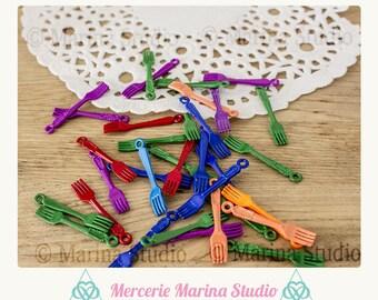 10 charms fourchettesen color (unisex) 31x5mm