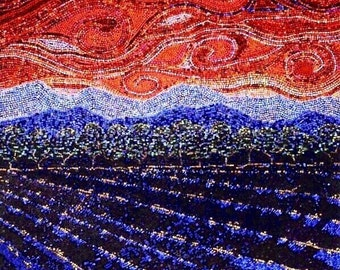 "Mosaic Magazine made of paper ""upcycle"" art/landscape"