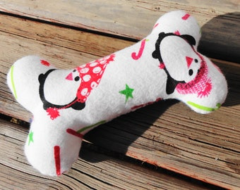 Dog Chew Toy, Dog Toy, Upcycled Dog Toy - Medium - Penguin