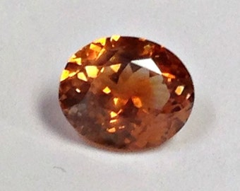 SAPPHIRE ORANGE Rock Creek Montana Oval 2.23 cts