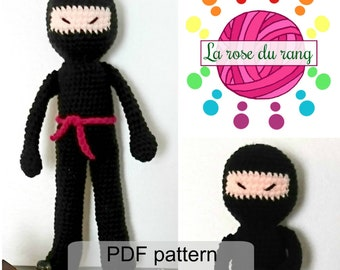 Crochet pattern for ninja doll amigurumi DIGITAL DOWNLOAD ONLY