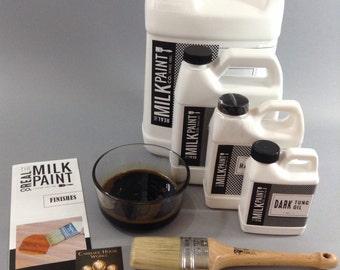 Dark Raw Tung Oil, Quart (32 fl. oz.) Wood Finish by the Real Milk Paint Company