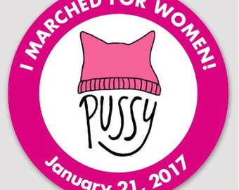 "3"" MARCH for WOMEN Sticker"