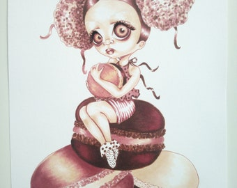 I love macaroons Original Illustration Pop Surreal