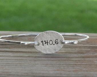 140.6 Ironman Bracelet - Ironman Jewelry - Triathlete Jewelry - Marathon Bracelet - Triathlete Gift - Ironman Gift - Triathlon Gift