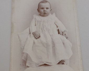 Antique Cabinet Card Baby in Long Dress CC739