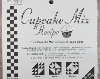 Cupcake Mix Recipe #1 - Quilt Pattern - Charm Pack Friendly - Miss Rosie's Quilt Company