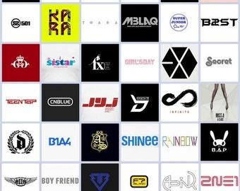 Kpop Logo Stickers, Kpop Stickers, Paper Sticker, Deco Sticker, Scrapbooking Sticker, Sticker Set