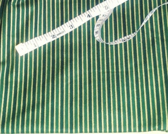 Green holiday stripe quilt fabric