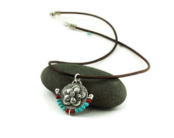 Silver and Turquoise - Southwestern Beauty - Pendant As Seen On Season 4 and 5 of The Fosters
