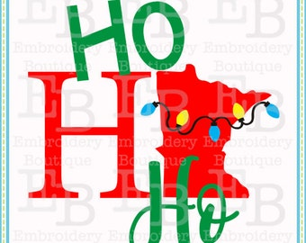 Ho Ho Ho Minnesota SVG - This design is to be used on an electronic cutting machine. Instant Download