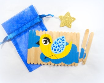 Puzzle for kids, Wooden puzzle, Wooden animals puzzle, Children puzzle, Busy bag activity, Travel game, Christmas gift for kids, puzzle bird
