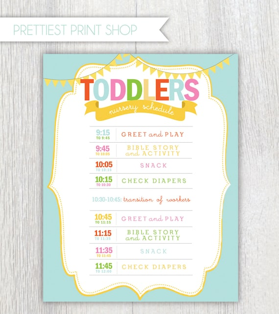 Church Nursery Pictures Google Search: Printable Nursery Or Classroom Schedule Daycare Church