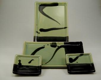 Sushi / Wasabi Plates (2 each)    #4408