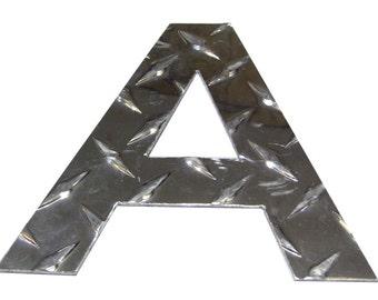 Aluminium Diamond Plate Letters 6 in voor tekenen en gebouwen 1/16 in dik (door woorden)