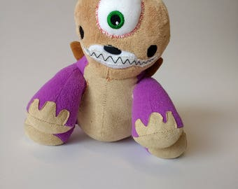 "Custom Stuffed Animal, Stuffed Monster, Stuffed Animal Monster, Toy, Unique, Stuffie, Plushie ~ ""Cysaur the Dinoclops"""