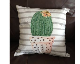 Cactus in a Pot Throw Pillow