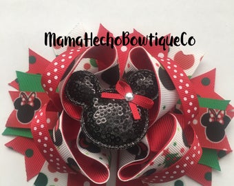 Minnie Mouse Christmas Hairbow