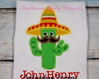 Fiesta Cactus Cinco De Mayo Mexico Cruise Party Birthday File for Embroidery Machine Monogram Instant Download