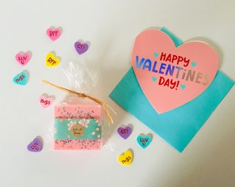 FREE SHIPPING Valentine and Soap Gift