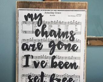 Amazing Grace hymn sign