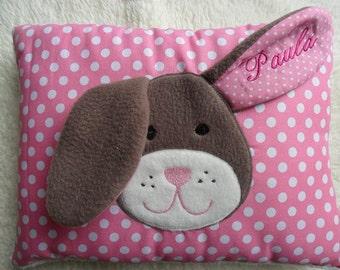 Personalized Baby Pillow Bunny Odoretta © ® approx. 10 inch x 14 inch 25 x 35 cm