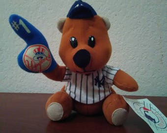 New York Yankees bear with hat and stripe Jersey
