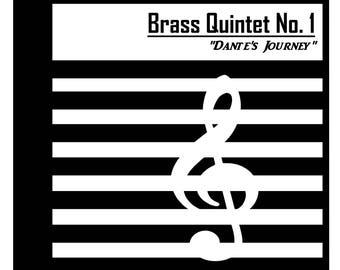 """Brass Quintet No. 1 """"Dante's Journey"""" - (Op. 9) [DIGITAL/INSTANTDOWNLOAD]"""