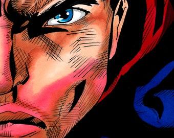 Superman Head Print