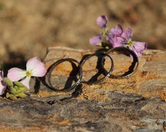 Stacking ring, layering ring set of three