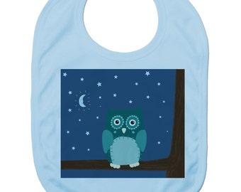 Funny Baby Bibs for Baby Boy Baby Girl Dribble Bib Feeding Bib Night Owl Baby Gift