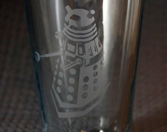 Dalek pint glass - you will buy or you will be exterminated!! EXTERMINATE! Perfect gift for any doctor who fan in your life.
