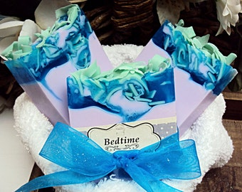 Bedtime Soap, Handmade Soap, Glycerin Soap, Baby Powder & Lavender, Shea Butter Soap, Moisturizing Soap, Bath Soap, Soap Bar