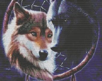 Peyote Pattern,Brick Pattern and Loom pattern Wolf B6