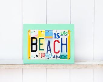 Beach Art - Beach Sign - Beach House Sign - gift for beach house - beach license plate sign