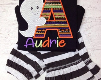 Girl's Halloween Outfit, Halloween Shirt, Halloween Outfit Babies, Halloween Outfit Girls, Halloween Costume, Personalized Halloween Outfit