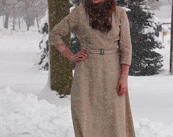 1940s Gumdrop Dress / Handmade 1940s-Style Dress / Vintage-Style Swing Dress / WWII / Size L-XL