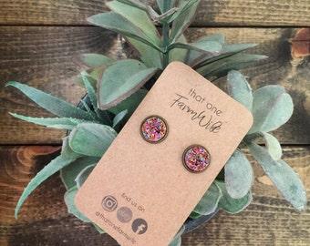 Druzy earrings | 12mm handmade faux Druzy earrings